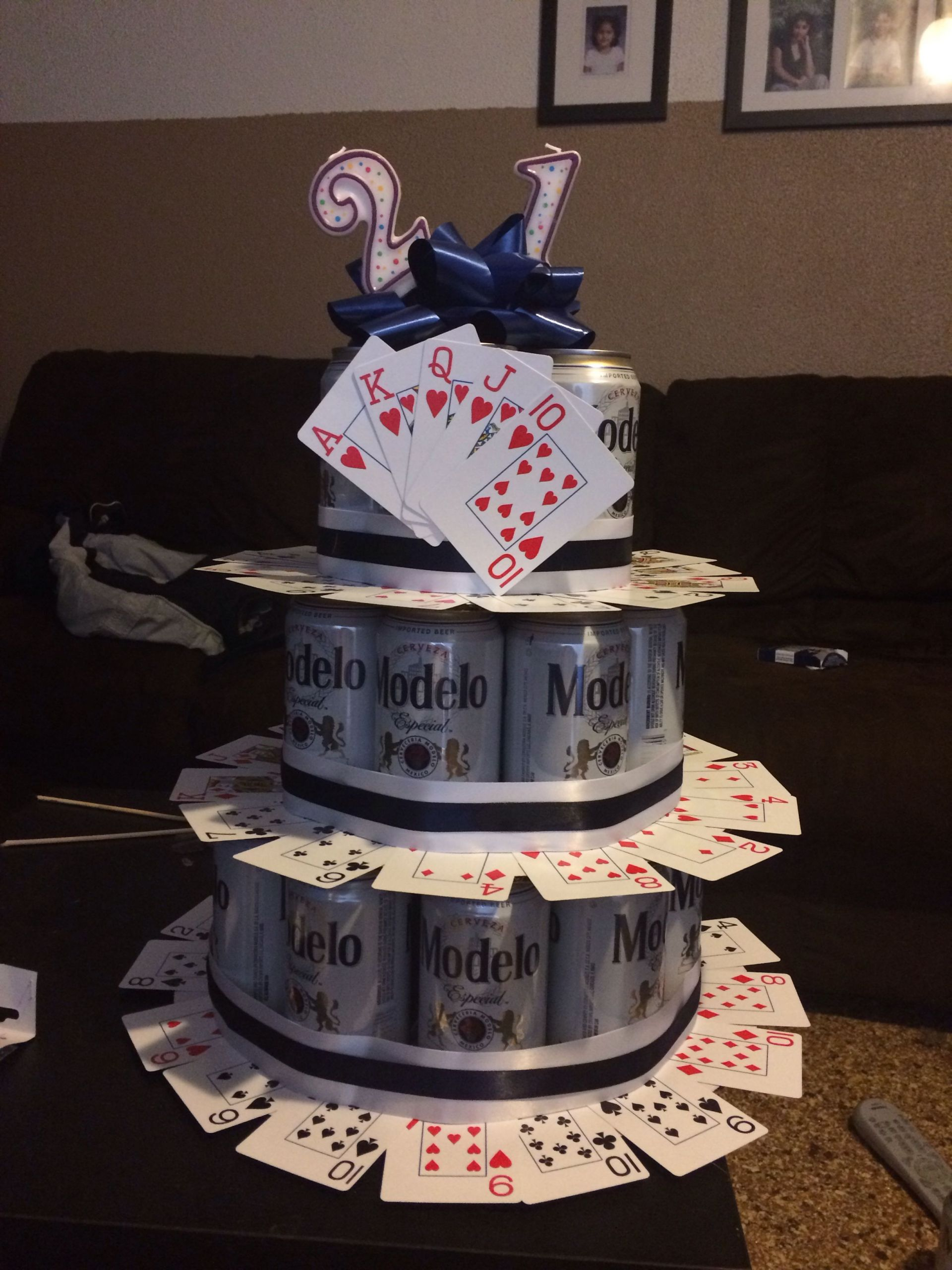 Gift Ideas For 21St Birthday Male  Fun 21st birthday beer cake Idea for a guy