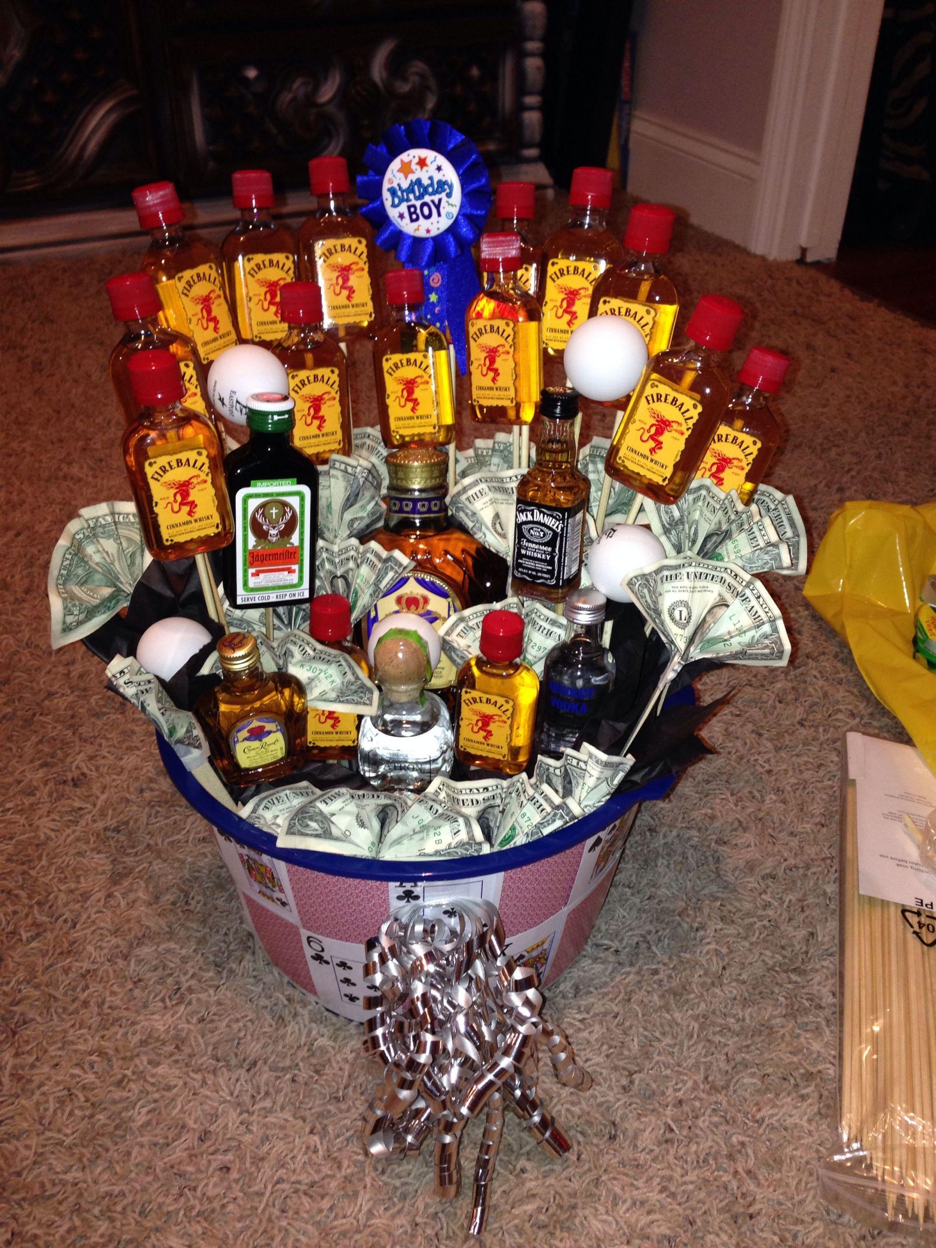 Gift Ideas For 21St Birthday Male  21st birthday basket for boyfriend