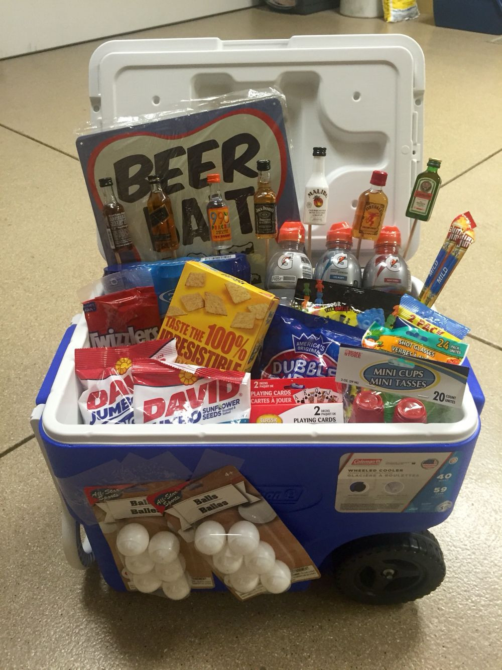 Gift Ideas For 21St Birthday Male  Ice Chest Gift Basket 21st birthday for a guy