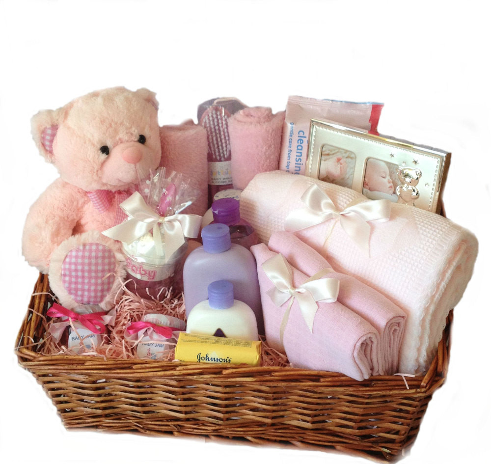 Gift Ideas For A Baby Girl  Baby Girl Hamper New baby ts nappy cakes and