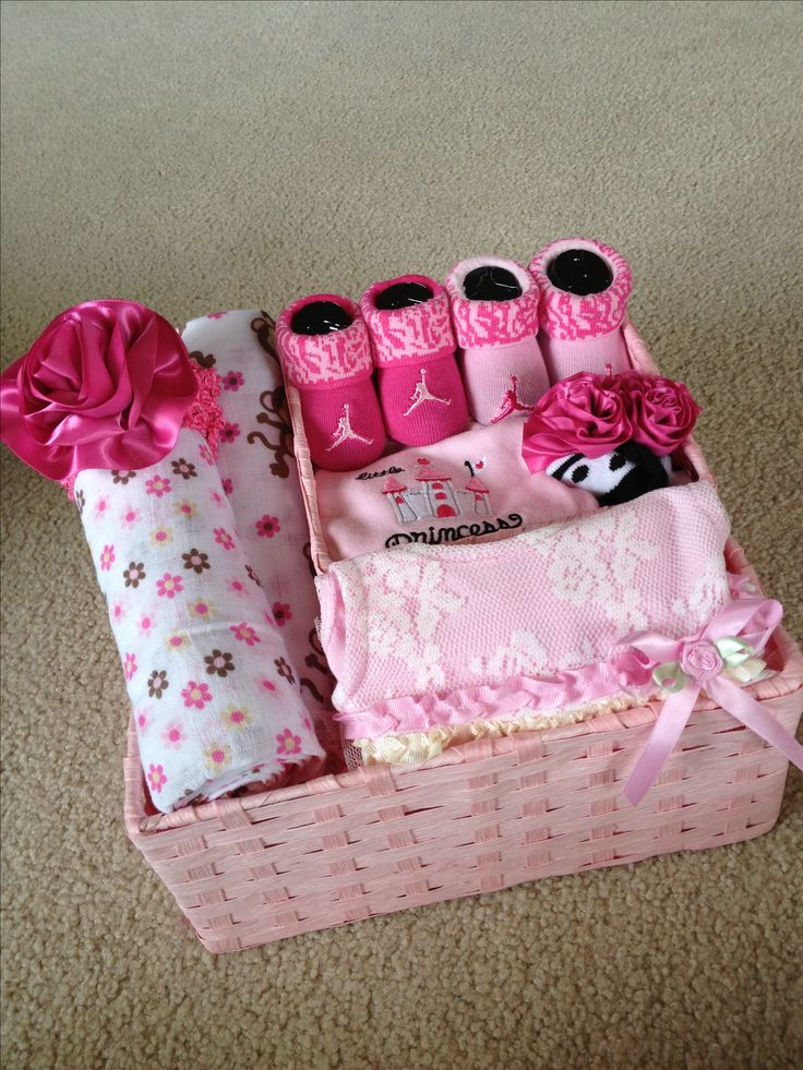 Gift Ideas For A Baby Girl  Baby girl t basket