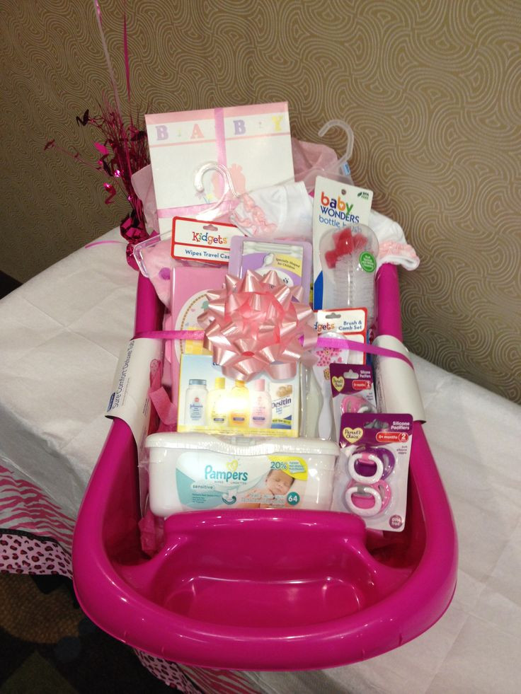 Gift Ideas For A Baby Girl  Baby shower t basket idea