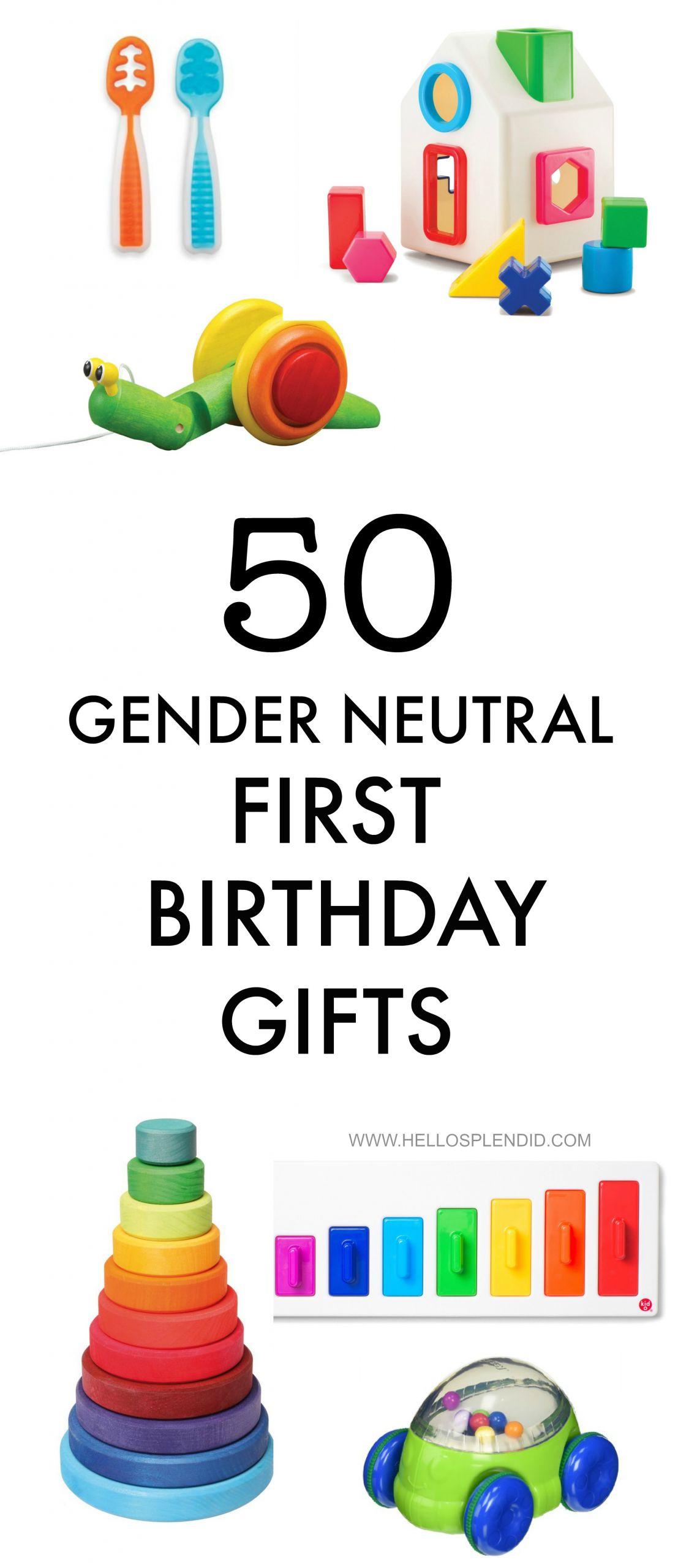 Gift Ideas For Baby First Birthday  50 Gender Neutral First Birthday Gifts Hello Splendid
