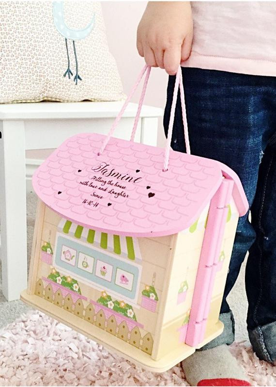 Gift Ideas For Baby First Birthday  Girls first birthday t personalised dolls house 1st