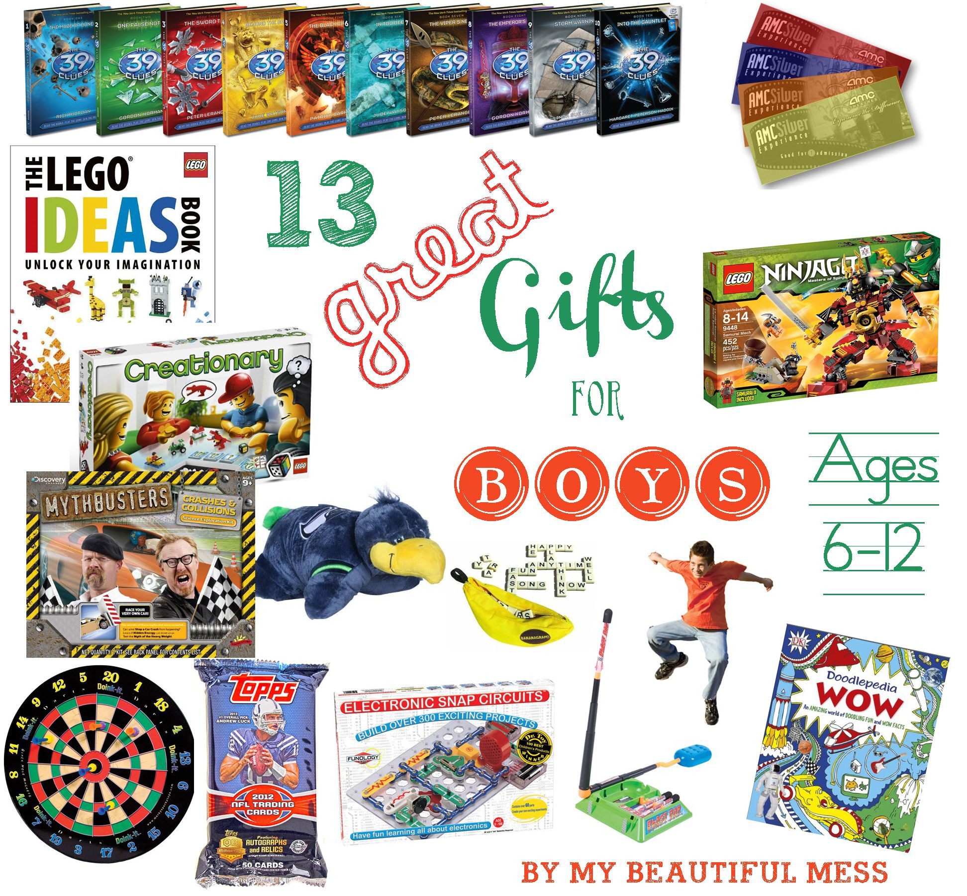 Gift Ideas For Boys Age 5  13 Great Gift Ideas for Grade School Aged Boys ages 6 12
