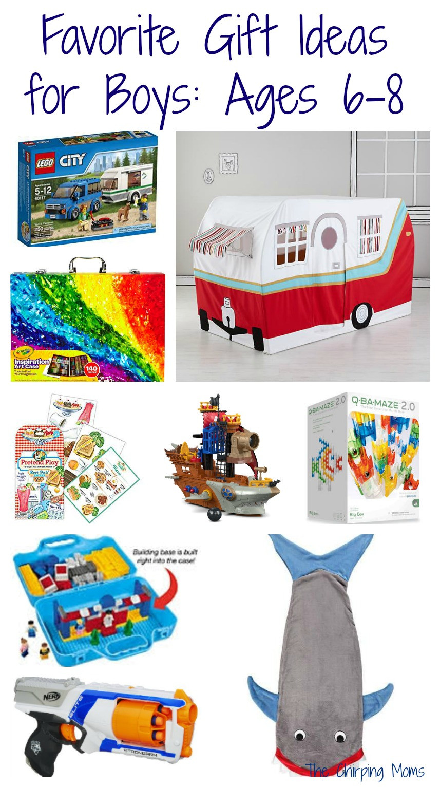 Gift Ideas For Boys Age 5  50 Favorite Gift Ideas for Boys Ages 6 8 The Chirping Moms