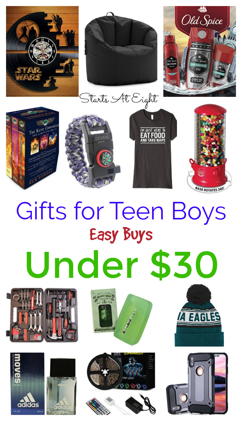 Gift Ideas For Boys  Gifts for Teen Boys Easy Buys Under $30 StartsAtEight