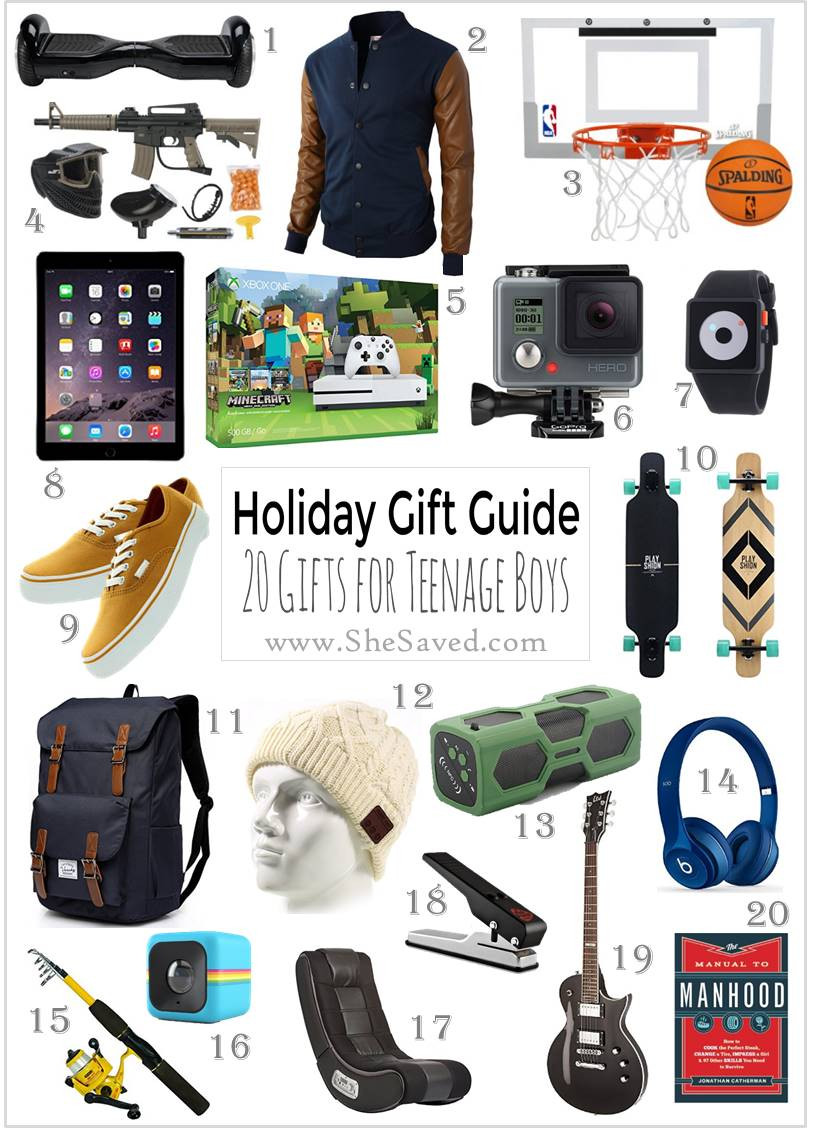Gift Ideas For Boys  HOLIDAY GIFT GUIDE Gifts for Teen Boys SheSaved