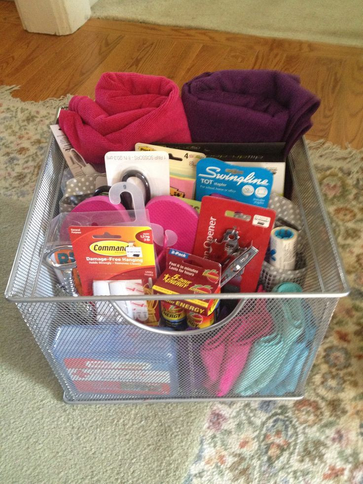 Gift Ideas For College Girls  DIY Gift Basket for College Girls
