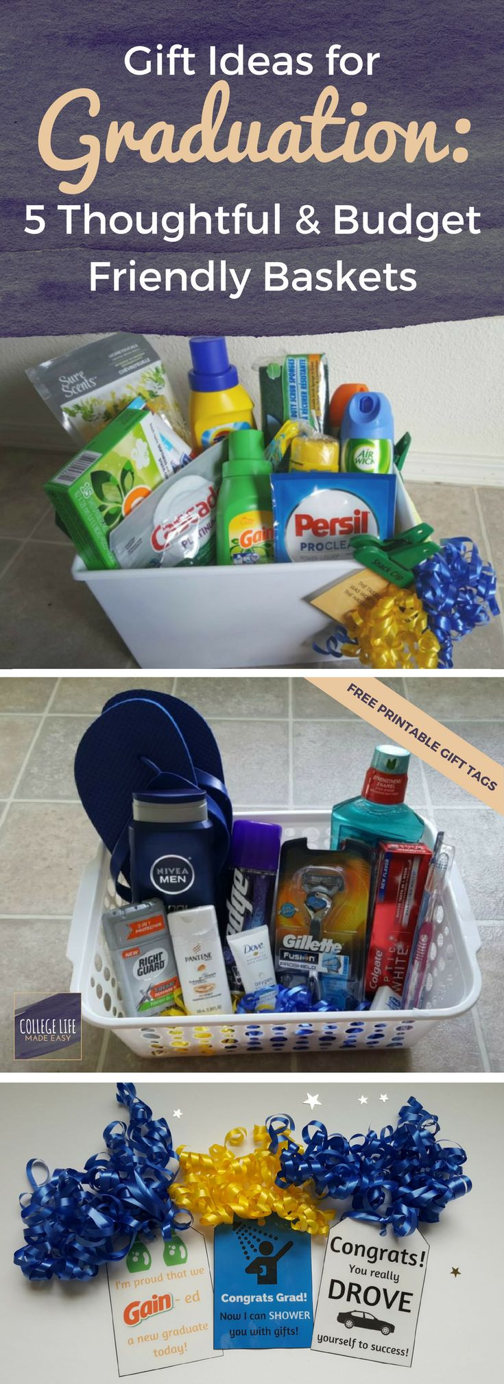 Gift Ideas For College Girls  High School College Graduation Gift Basket Ideas