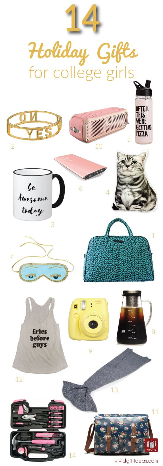 Gift Ideas For College Girls  14 Great Christmas Gift Ideas for College Girls Vivid s