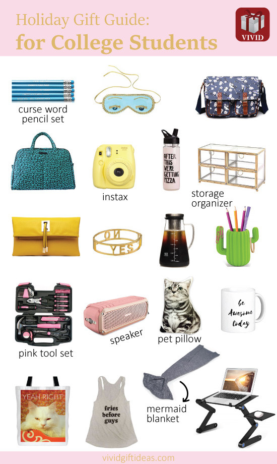 Gift Ideas For College Girls  22 Unique Holiday Gifts for College Students