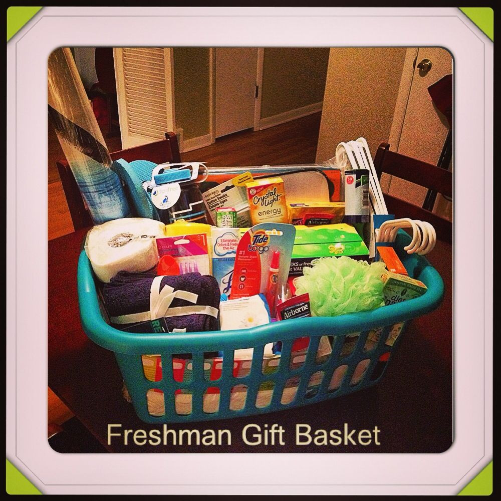 Gift Ideas For College Girls  The Freshman Gift basket I made for my sister in law It