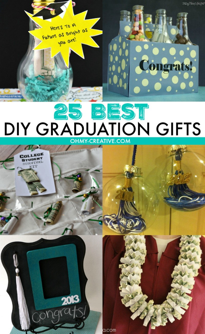 Gift Ideas For College Graduation  25 Best DIY Graduation Gifts Oh My Creative
