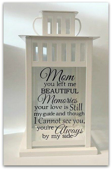 Gift Ideas For Death Of Mother  Memorial Lantern Loss of Mom Loss of Mother Sympathy