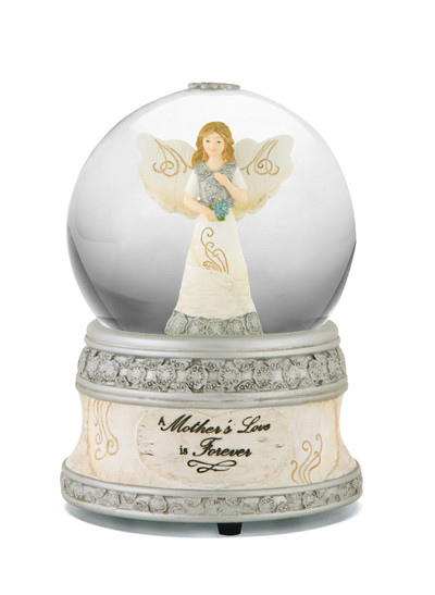 Gift Ideas For Death Of Mother  Memorial Music Water Globe A Mother s Love is Forever