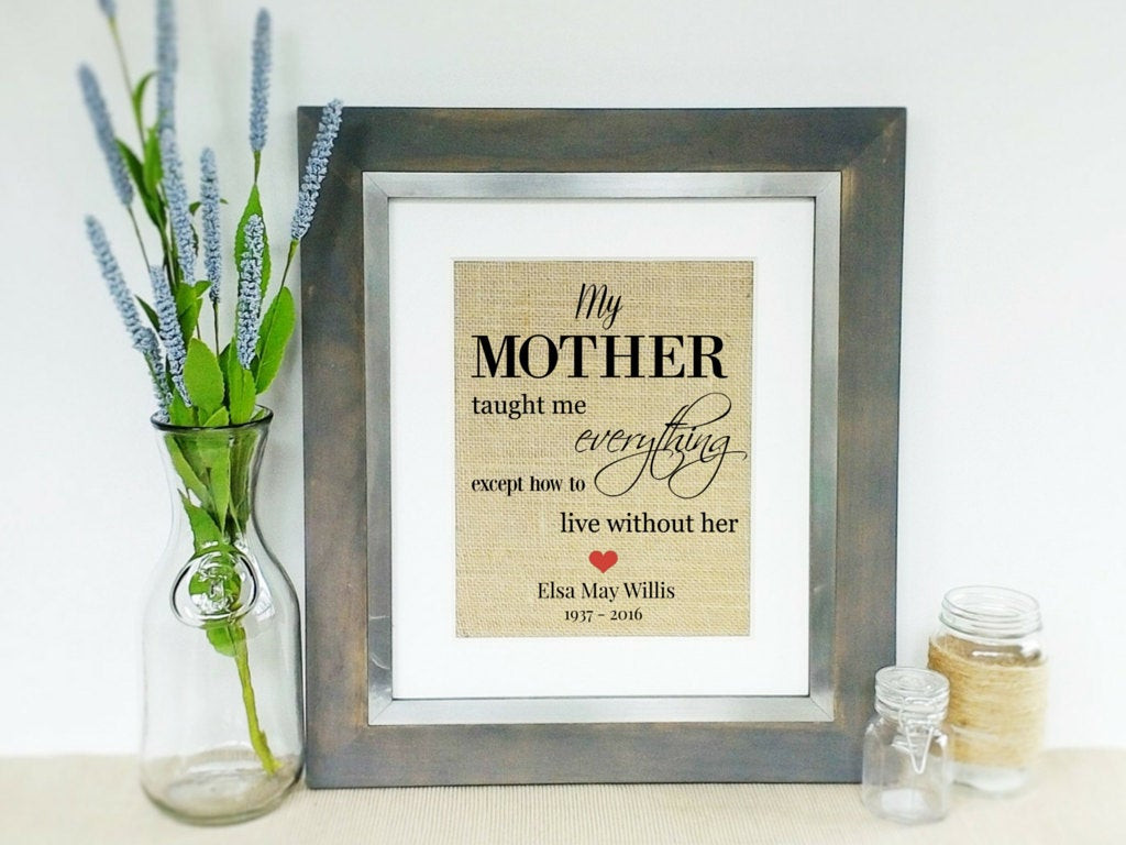 Gift Ideas For Death Of Mother  DEATH OF a MOTHER Sympathy Gift Condolence Gifts for Loss