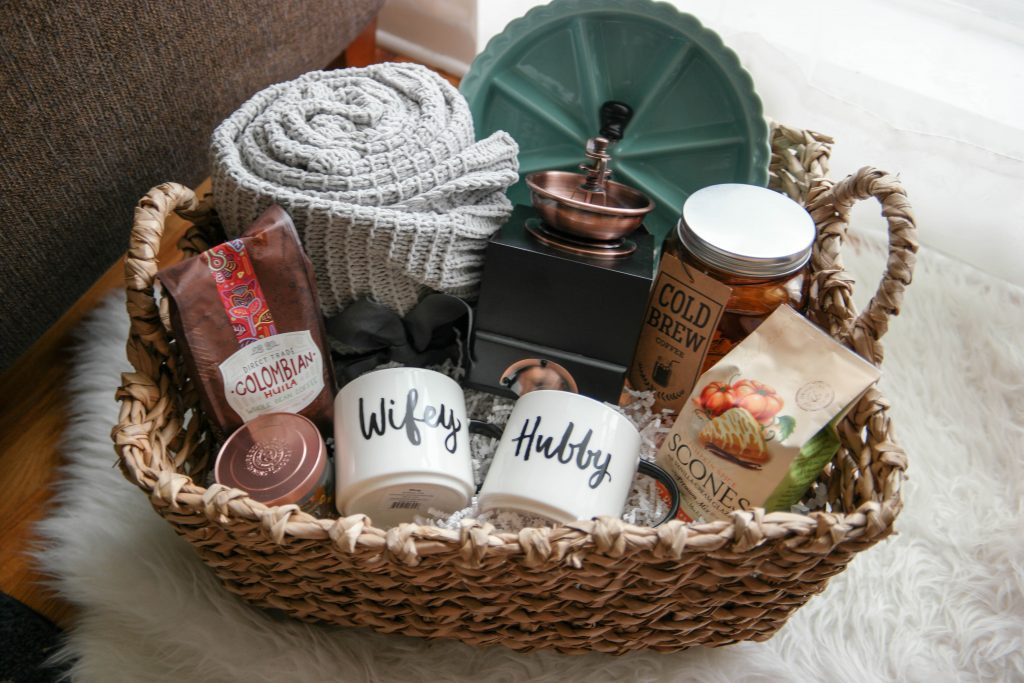 Gift Ideas For Eloped Couple  A Cozy Morning Gift Basket A Perfect Gift For Newlyweds