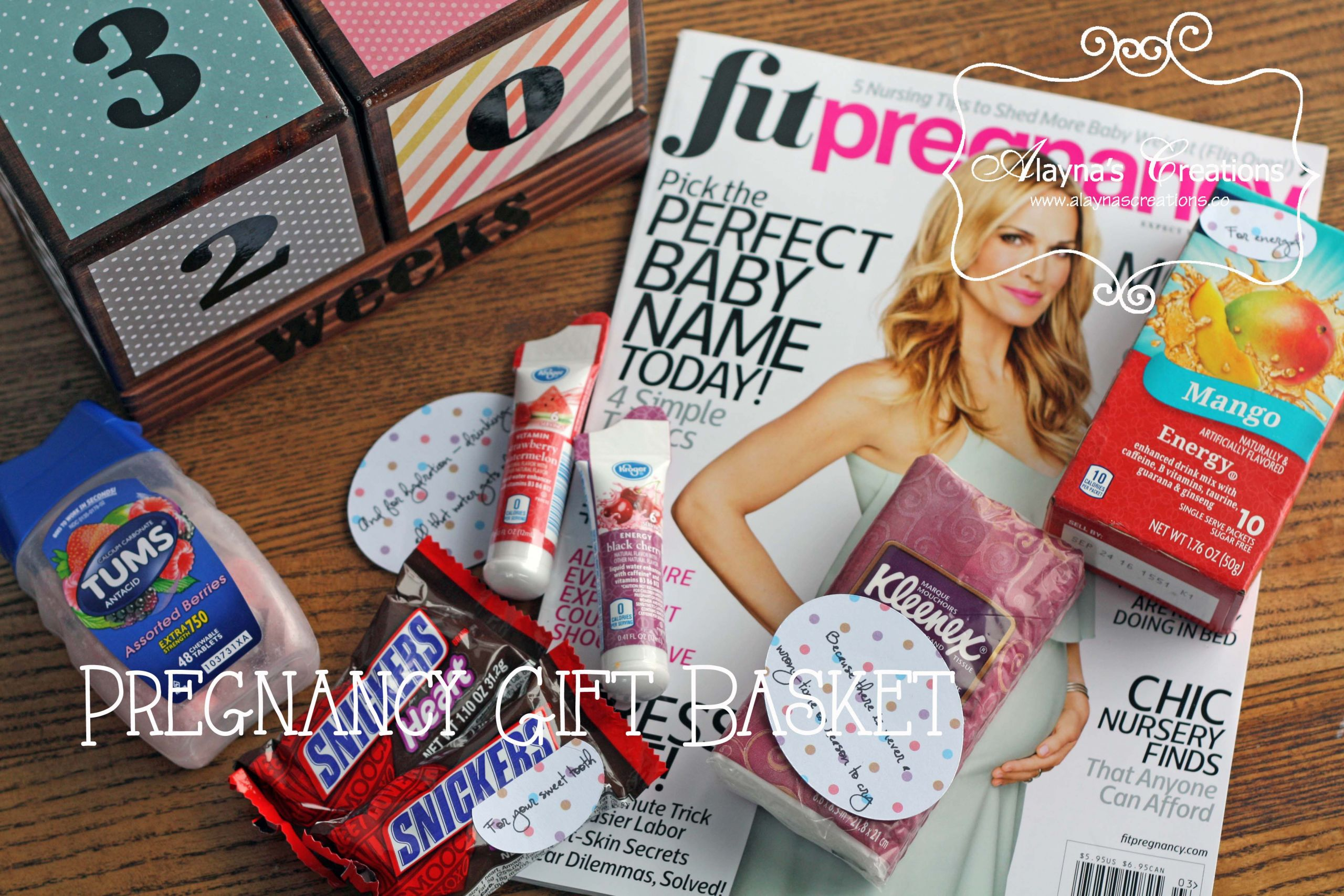 Gift Ideas For Expecting Mother  Pregnancy Survival Kit – Gift Basket Idea – alaynascreations