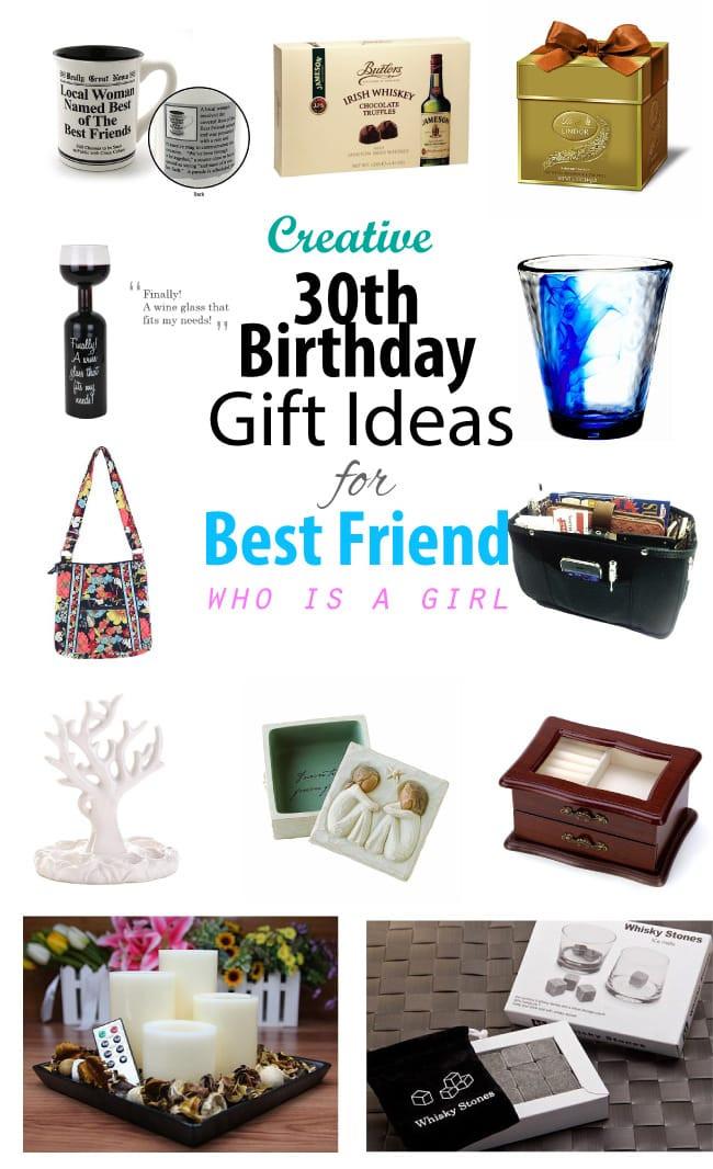 Gift Ideas For Friends Birthday Female  Creative 30th Birthday Gift Ideas for Female Best Friend