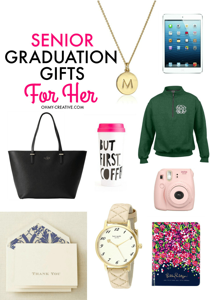 Gift Ideas For Graduation  Senior Graduation Gifts for Her Oh My Creative