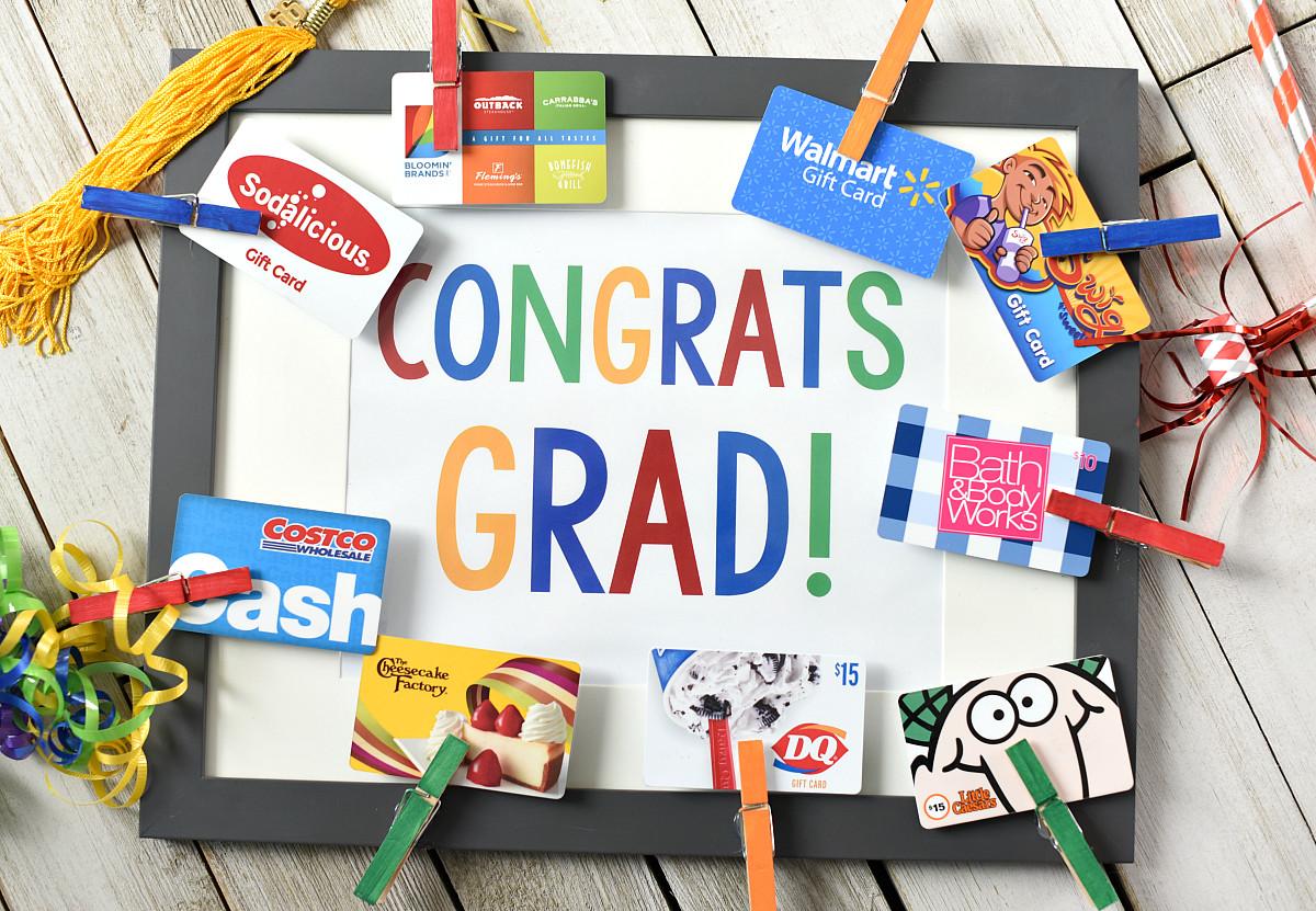 Gift Ideas For Graduation  Cute Graduation Gifts Congrats Grad Gift Card Frame – Fun