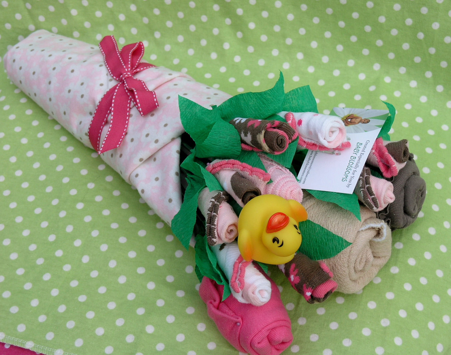 Gift Ideas For New Baby Girl  Baby Clothes Bouquet for Girls Unique Baby by babyblossomco
