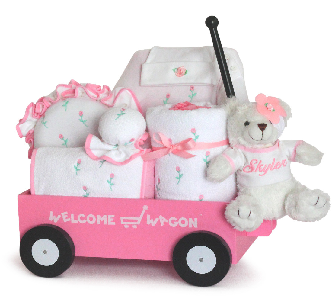Gift Ideas For New Baby Girl  Baby Girl Gift Pretty in Pink Wel e Wagon