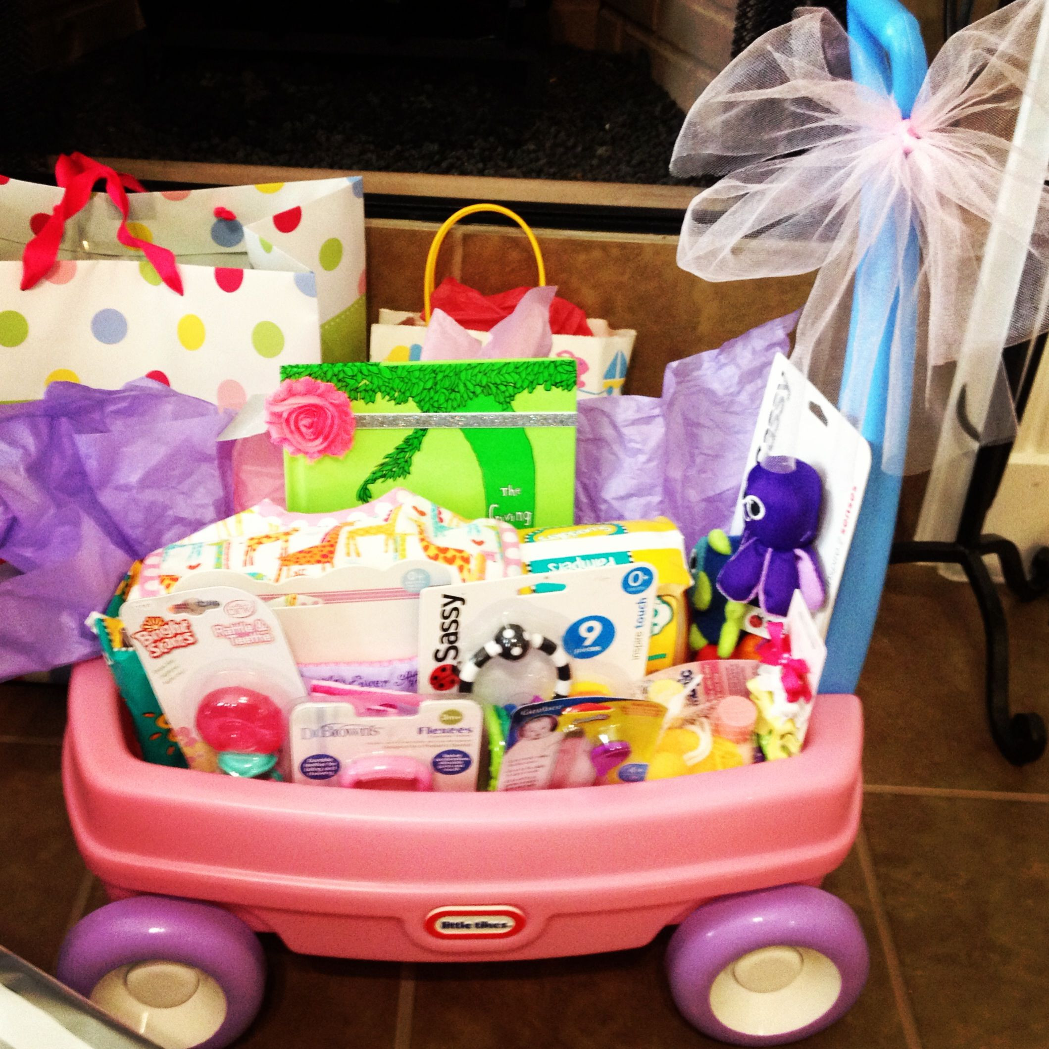 Gift Ideas For New Baby Girl  Baby girl wagon t