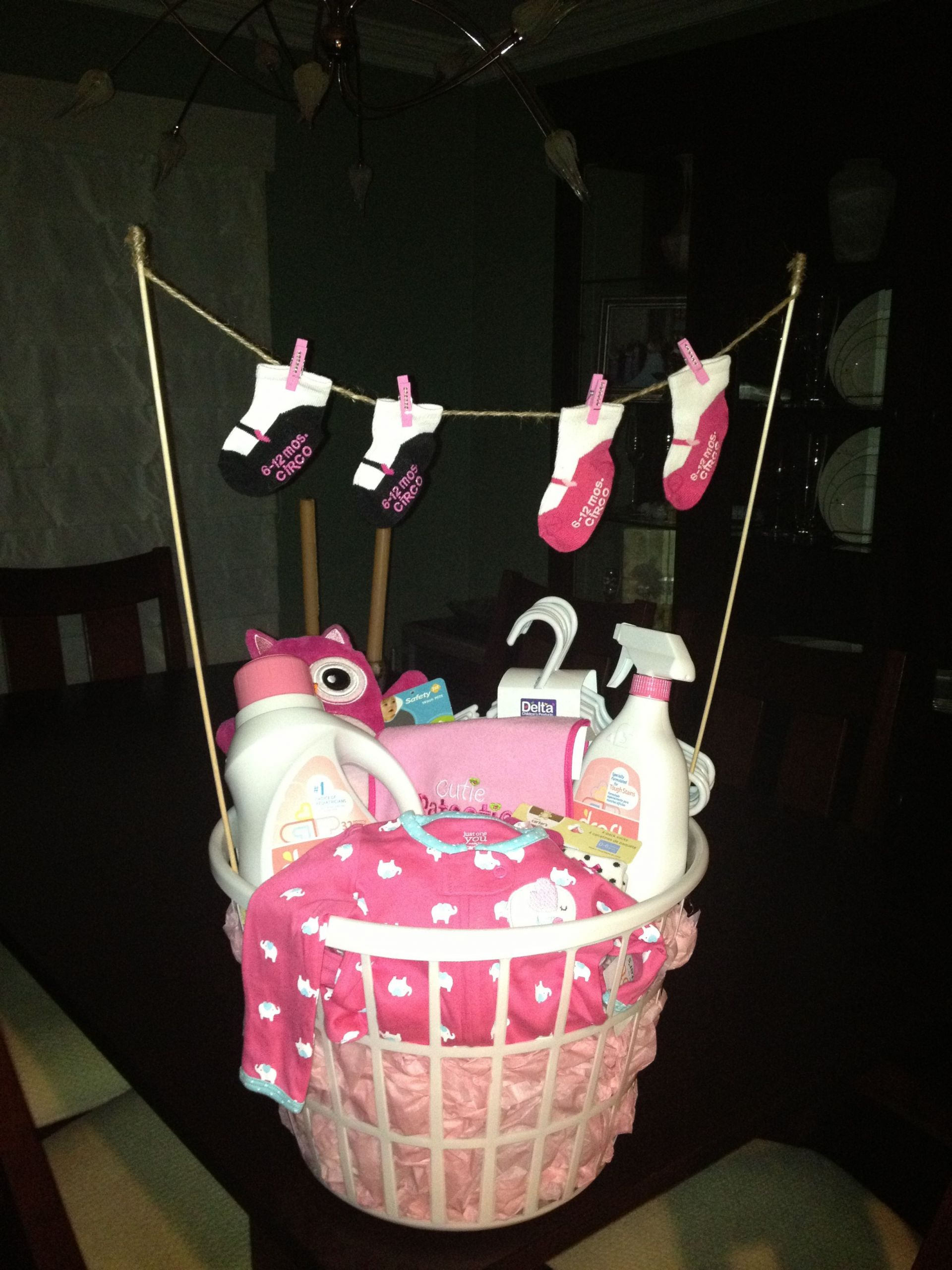 Gift Ideas For New Baby Girl  Laundry basket baby shower t