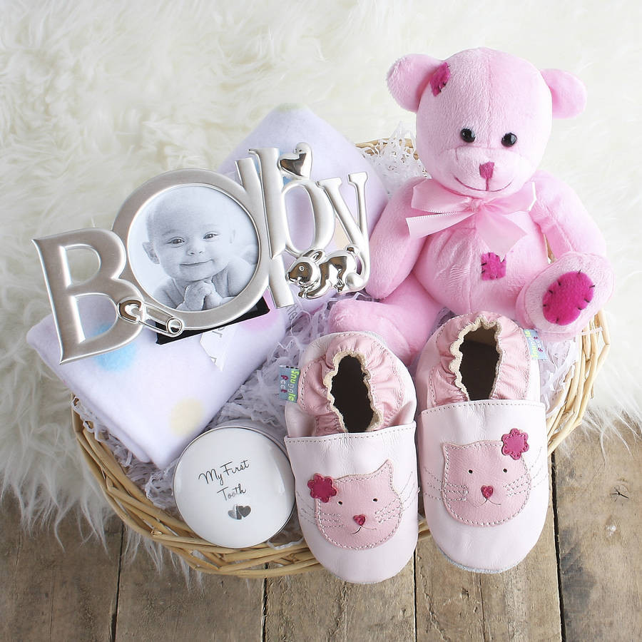 Gift Ideas For New Baby Girl  deluxe girl new baby t basket by snuggle feet
