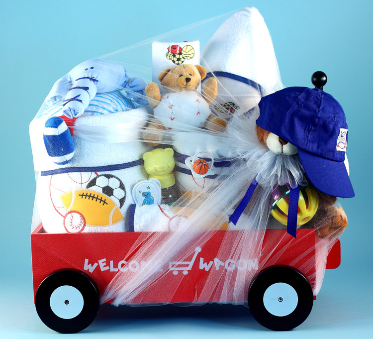 Gift Ideas For Newborn Baby Boy  Deluxe Wel e Wagon Baby Boy Gift at Best Prices