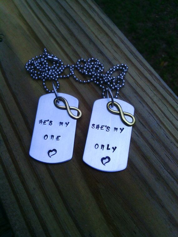 Gift Ideas For Teen Boyfriend  Hand Stamped Necklace with charm Father s Day by