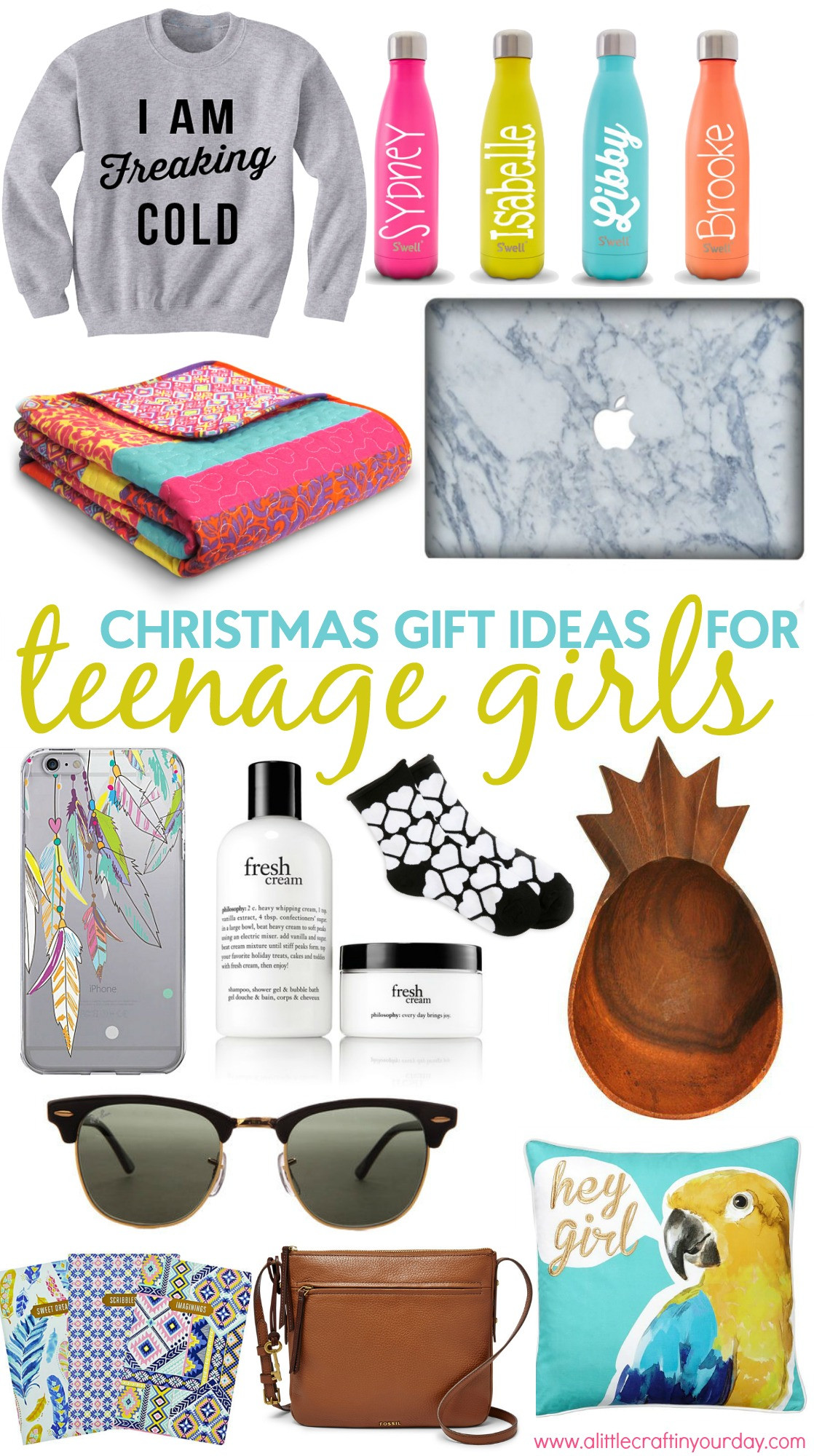 Gift Ideas Teenage Girls  Christmas Gift Ideas for Teen Girls A Little Craft In