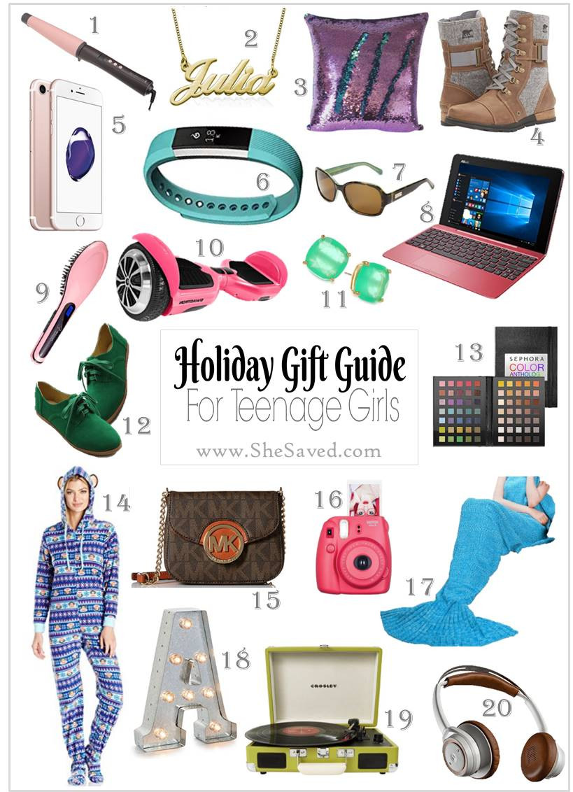 Gift Ideas Teenage Girls  HOLIDAY GIFT GUIDE Gifts for Teen Girls SheSaved