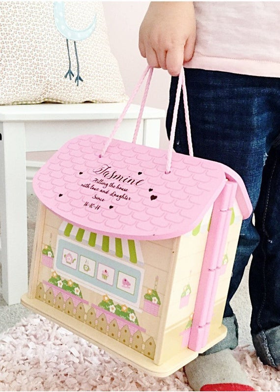Gifts For Baby Girls First Birthday  Girls first birthday t personalised dolls house 1st