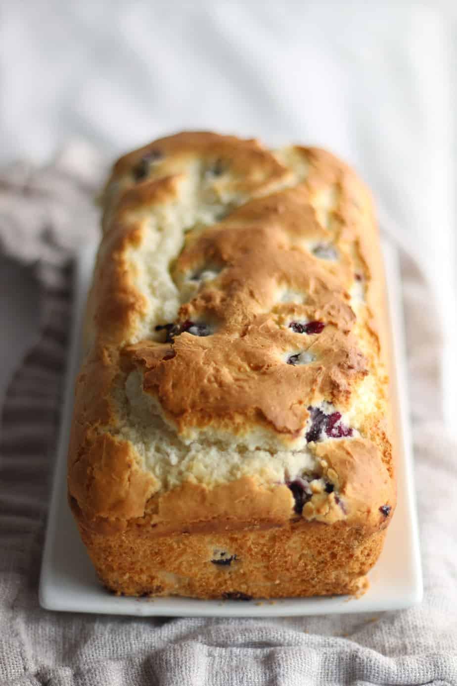Gluten Free Blueberry Bread  Gluten Free Blueberry Loaf Recipe