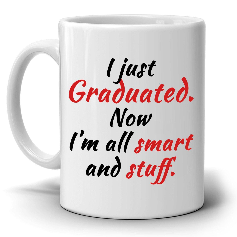 Graduation Gag Gift Ideas  Personalized Graduation Cap Gifts Mug Unique Grad Gifts