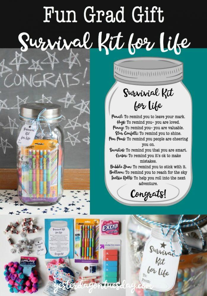 Graduation Gag Gift Ideas  Survival Kit for Life Graduation Gift