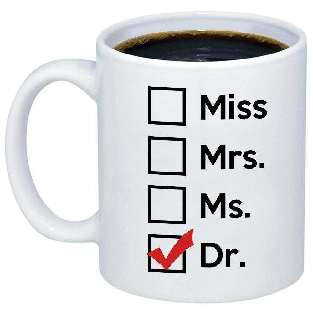 Graduation Gag Gift Ideas  Graduation Gift Miss Mrs Ms Dr Coffee Mug Funny Unique