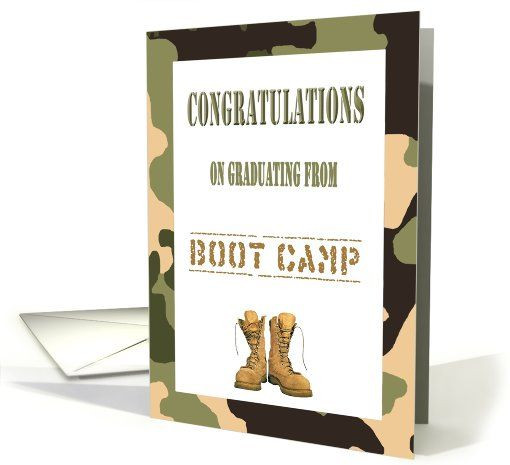Graduation Gift Ideas For Army Boot Camp  Congratulations Boot Camp Graduation Camo & bat boots