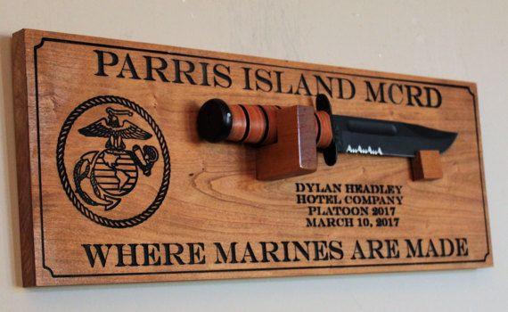 Graduation Gift Ideas For Army Boot Camp  USMC bootcamp graduation t Personalized Ka bar Marine