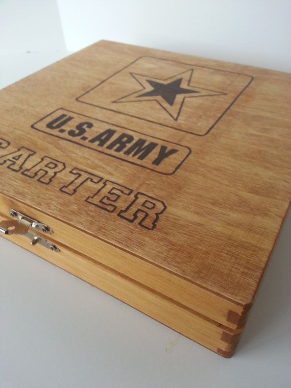 Graduation Gift Ideas For Army Boot Camp  Personalized US Army Keepsake Box by Five1Designs Perfect