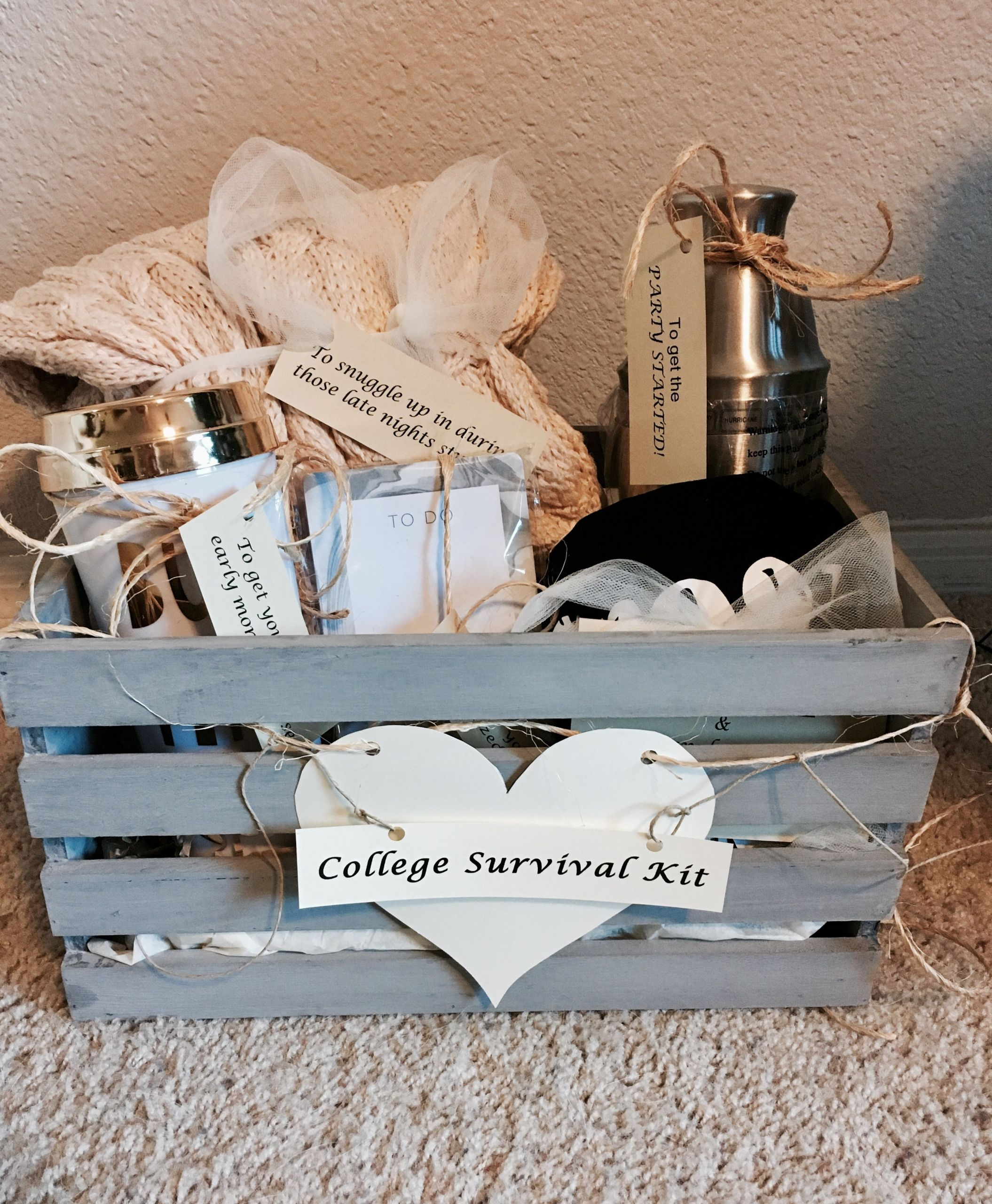 """Graduation Gift Ideas For Sister  """"College Survival Kit"""" High School graduation t for my"""