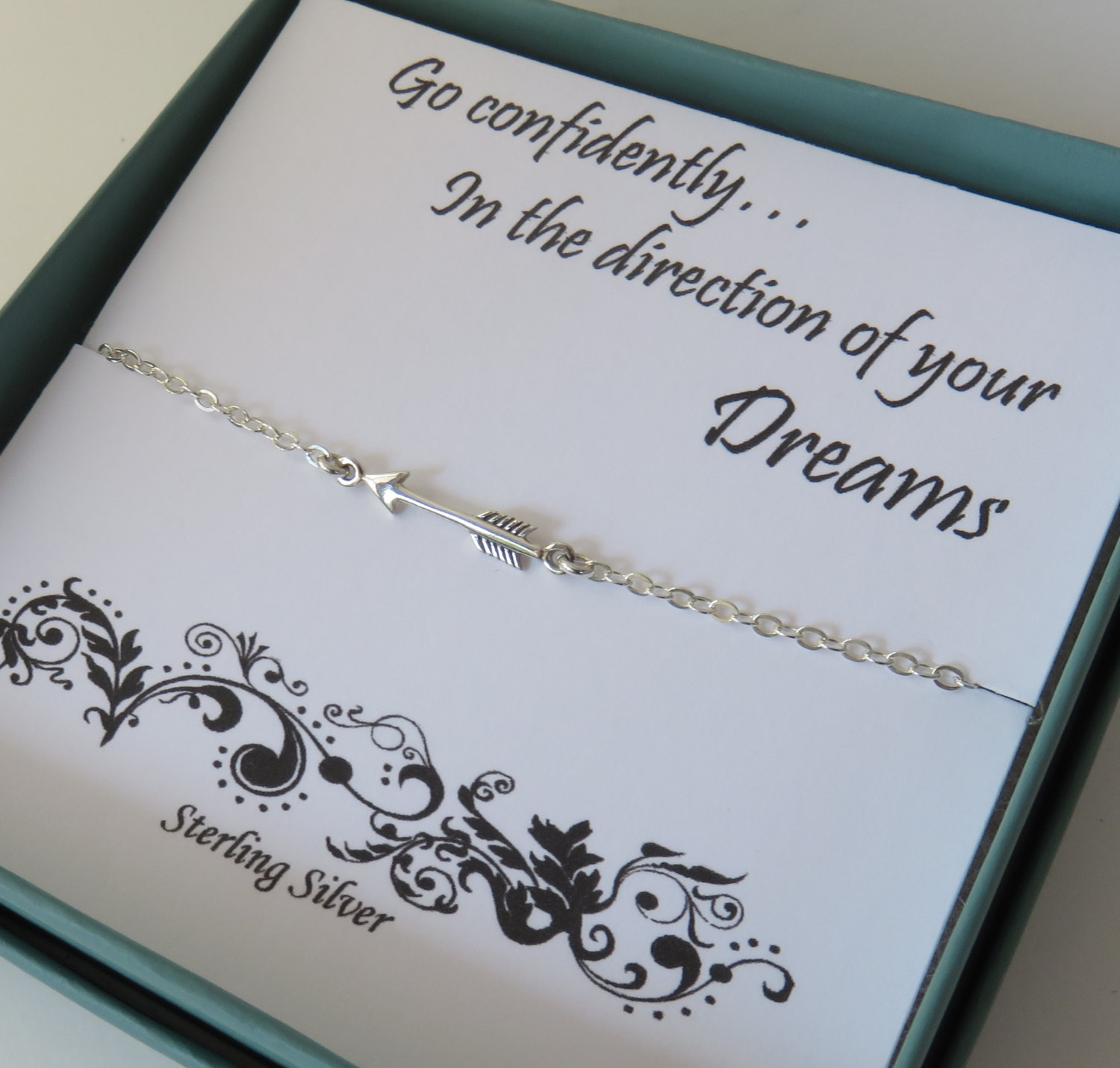 Graduation Jewelry Gift Ideas For Her  Sterling Silver Arrow Necklace Graduation Gift for Her Arrow