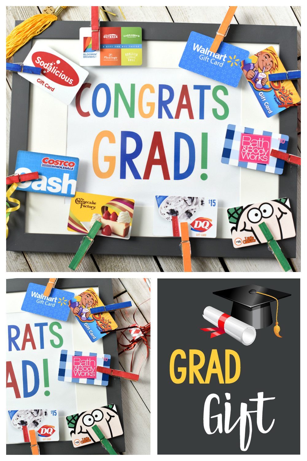 Graduation Jewelry Gift Ideas For Her  Cute Graduation Gifts Congrats Grad Gift Card Frame – Fun