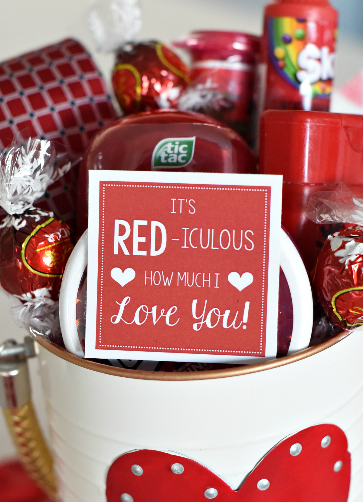 Great Valentines Gift Ideas  Cute Valentine s Day Gift Idea RED iculous Basket