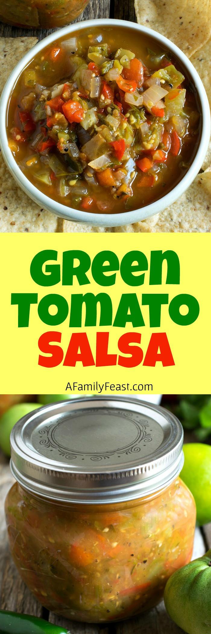 Green Tomato Salsa  Peg's Green Tomato Salsa A Family Feast