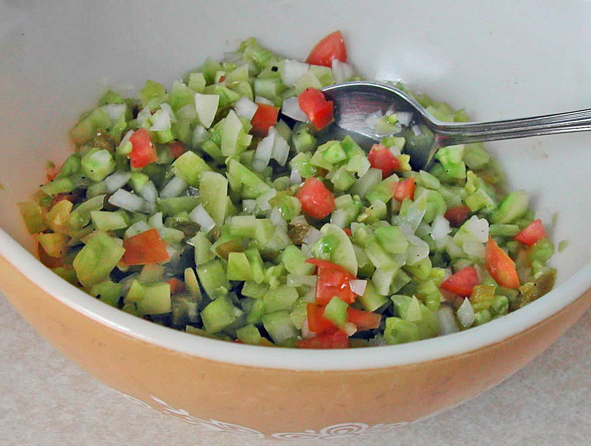 Green Tomato Salsa  The Iowa Housewife Green Tomato Salsa