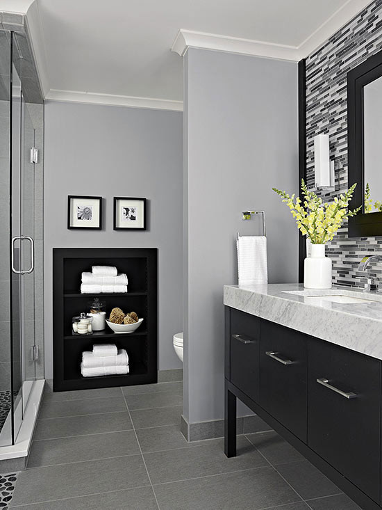 Grey Paint Colors For Bathroom  10 Best Paint Colors For Small Bathroom With No Windows